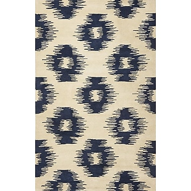 Bungalow Rose Jagger Blue/White Simplicity Area Rug; 5' x 8'