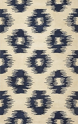Bungalow Rose Jagger Blue/White Simplicity Area Rug; 8' x 10'6''