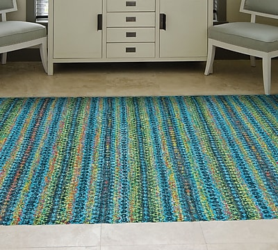 Bungalow Rose Lansing Hand-Knotted Aura Area Rug; 4' x 6'