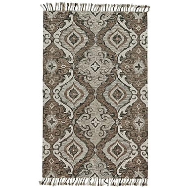 Bungalow Rose Florence Hand-Tufted Ivory/Gray Area Rug; 8' x 11'