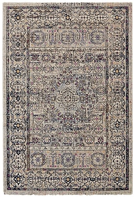 Bungalow Rose Nolan Vanilla/Ice Area Rug; Runner 2'7'' x 7'6''