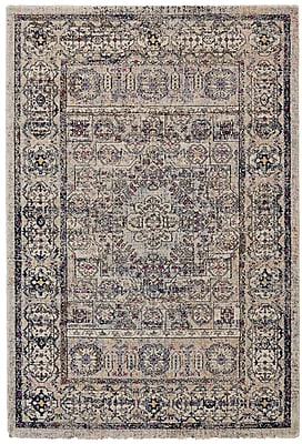Bungalow Rose Nolan Vanilla/Ice Area Rug; 7'10'' x 10'10''
