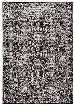 Bungalow Rose Diana Charcoal/Gray Area Rug; 5' x 8'