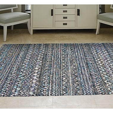 Bungalow Rose Lansing Hand-Knotted Thundercloud Area Rug; 4' x 6'