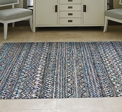 Bungalow Rose Lansing Hand-Knotted Thundercloud Area Rug; 7'9'' x 9'9''