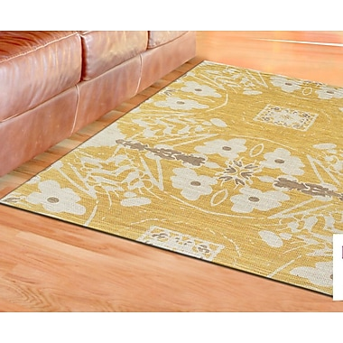 Bungalow Rose Mikonos Hand-Loomed Yellow Area Rug; 2' x 3'