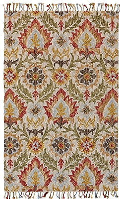 Bungalow Rose Florence Hand-Tufted Golden/Olive Area Rug; 5' x 8'
