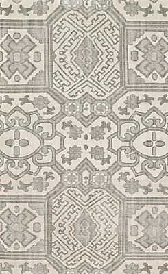 Bungalow Rose Janelle Hand-Knotted Graphite Area Rug; 2' x 3'