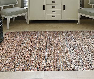 Bungalow Rose Lansing Hand-Knotted Burlap Area Rug; 2' x 3'
