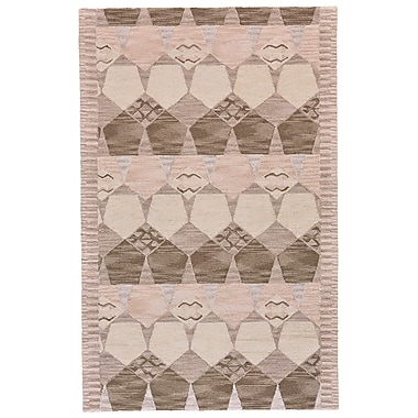 Bungalow Rose Pacifica Hand-Tufted Gray/Taupe Area Rug; 3'6'' x 5'6''
