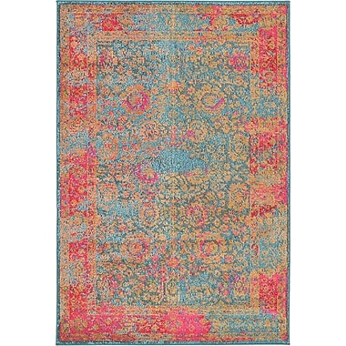 Bungalow Rose Enid Blue Area Rug; 9' x 12'