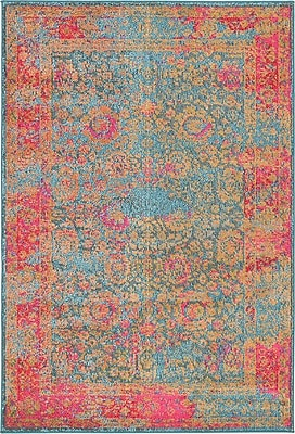 Bungalow Rose Enid Blue Area Rug; 2' 2'' x 6' 7''
