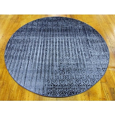 Bungalow Rose Kadar Blue Area Rug; Round 6'