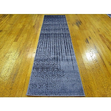 Bungalow Rose Kadar Blue Area Rug; Runner 2'7'' x 10'