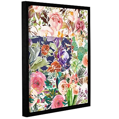 Bungalow Rose Multiple Floral Collage Framed Painting Print; 18'' H x 14'' W x 2'' D
