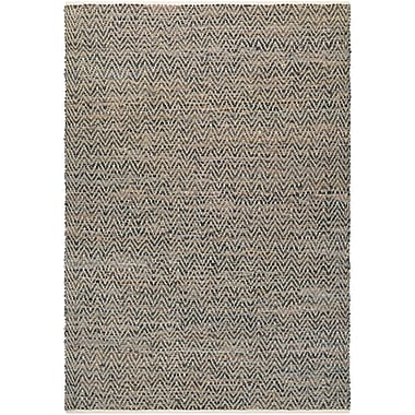 Bungalow Rose Kaly Natural Hand-Loomed Brown Area Rug; 2' x 3'
