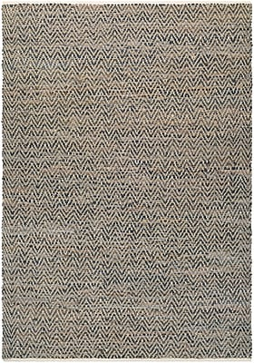 Bungalow Rose Kaly Natural Hand-Loomed Brown Area Rug; 6' x 9'