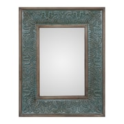 Bungalow Rose Unique Green Wall Mirror