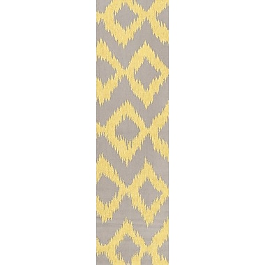 Bungalow Rose Faith Lemon & Brindle Geometric Area Rug; 5' x 8'