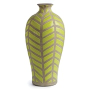Bungalow Rose Miranda Green/Gray Ceramic Table Vase