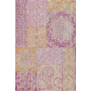 Bungalow Rose Knowland Hand-Tufted Bright Pink/Peach Area Rug; 2' x 3'