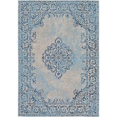 Mistana Payne Hand-Woven Sky Blue/Beige Area Rug; 5' x 7'6''