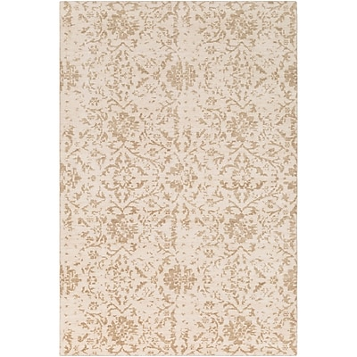 Bungalow Rose Ashton Hand-Knotted Camel/Khaki Area Rug; 9' x 13'