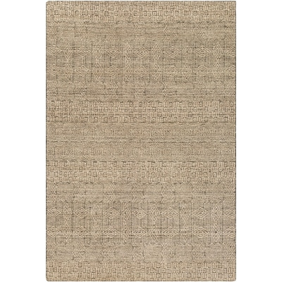Bungalow Rose Ashton Hand-Knotted Dark Green/Beige Area Rug; 9' x 13'