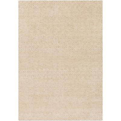 Bungalow Rose Ashton Hand-Knotted Khaki/Cream Area Rug; 9' x 13'