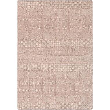 Bungalow Rose Ashton Hand-Knotted Rose/Khaki Area Rug; 2' x 3'