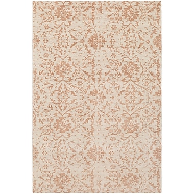 Bungalow Rose Ashton Hand-Knotted Camel/Cream Area Rug; 2' x 3'
