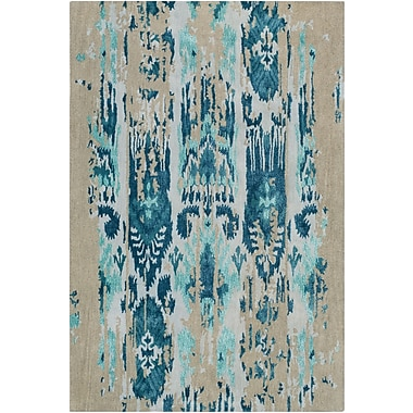 Bungalow Rose Corinne Hand-Tufted Teal/Navy Area Rug; 5' x 8'