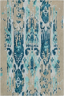 Bungalow Rose Corinne Hand-Tufted Teal/Navy Area Rug; 8' x 11'