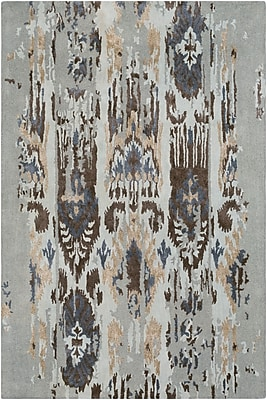 Bungalow Rose Corinne Hand-Tufted Light Gray/Navy Area Rug; 9' x 13'