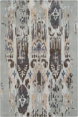 Bungalow Rose Corinne Hand-Tufted Light Gray/Navy Area Rug; Runner 2'6'' x 8'