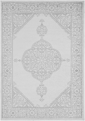 Bungalow Rose Corinna Gray/Cream Area Rug; 2' x 3'