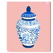 Bungalow Rose 'Chinese Porcelain Pale' Painting Print on Wrapped Canvas; 30'' H x 24'' W x 1.5'' D