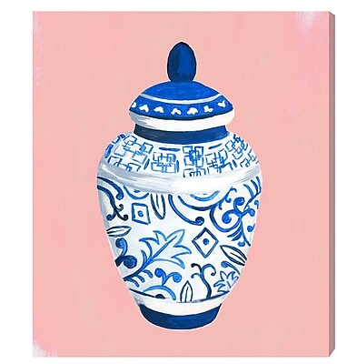 Bungalow Rose 'Chinese Porcelain Pale' Painting Print on Wrapped Canvas; 25'' H x 20'' W x 1.5'' D