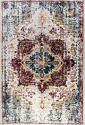 Bungalow Rose Gina Red/Blue/Yellow Area Rug; 6'7'' x 9'6''
