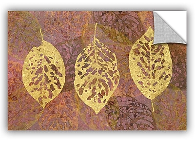 Bungalow Rose Fallen Leaves Wall Decal; 16'' H x 24'' W x 0.1'' D
