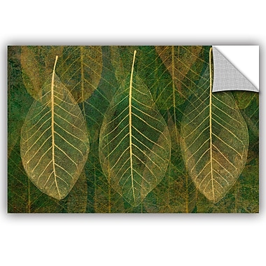 Bungalow Rose Leaf Gold 4 Wall Decal; 24'' H x 36'' W x 0.1'' D