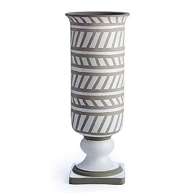 Bungalow Rose Miranda White/Gray Ceramic Floor Vase