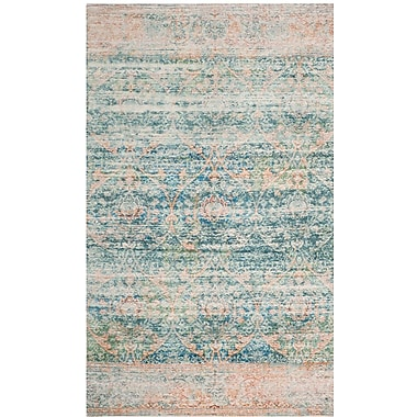 Bungalow Rose Amanda Blue Area Rug; 5' x 8'
