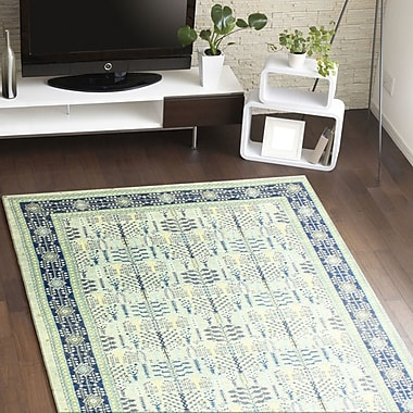 World Menagerie Felicienne Geometric Silver Area Rug; 7'7'' x 9'7''