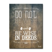 Bungalow Rose Deeds Textual Art on Wrapped Canvas; 16'' H x 12'' W x 1.5'' D