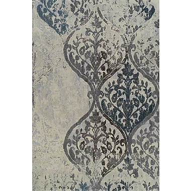 Bungalow Rose Wilton White Plant Area Rug; 9'6'' x 13'2''