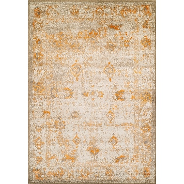 Bungalow Rose Forsythia Tangerine Area Rug; 5'3'' x 7'7''