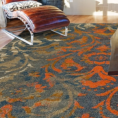 Bungalow Rose Forsythia Teal Area Rug; 7'10'' x 10'7''