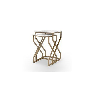 Bungalow Rose Agate Cove 2 Piece Nesting Tables
