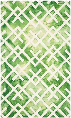 Bungalow Rose Jawhar Green/Ivory Area Rug; 8' x 10'